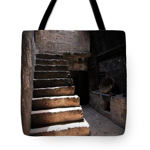 Stone Stairs At Santa Catalina Monastery Tote Bag