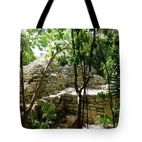 Tote Bag featuring the photograph Stone Steps In The Jungle by Francesca Mackenney