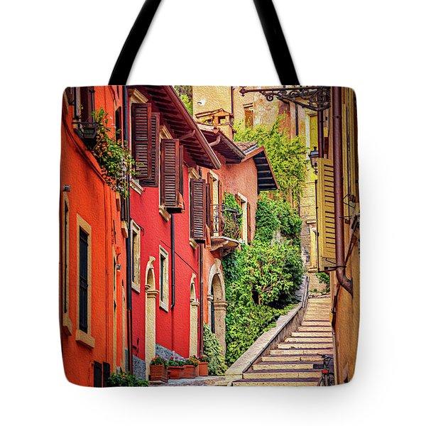 Stone Steps In Verona Italy  Tote Bag