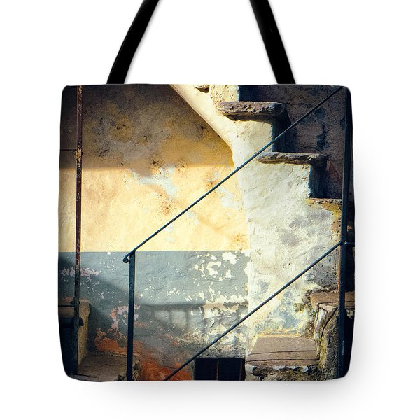 Tote Bag featuring the photograph Stone Steps Outside An Old House by Silvia Ganora