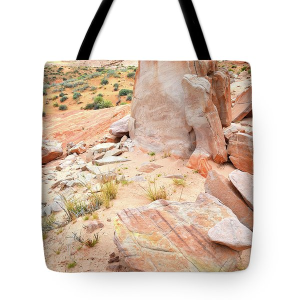 Tote Bag featuring the photograph Stone Tablet In Valley Of Fire by Ray Mathis