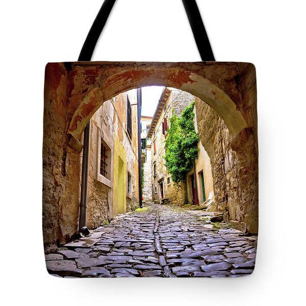 Stone Town Of Groznjan Old Street  Tote Bag