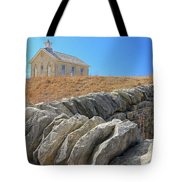 Stone Wall Education Tote Bag