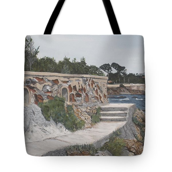 Tote Bag featuring the painting Stone Wall France by Betty-Anne McDonald