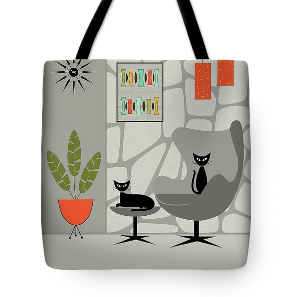 Tote Bag featuring the digital art Stone Wall Gray Tones by Donna Mibus
