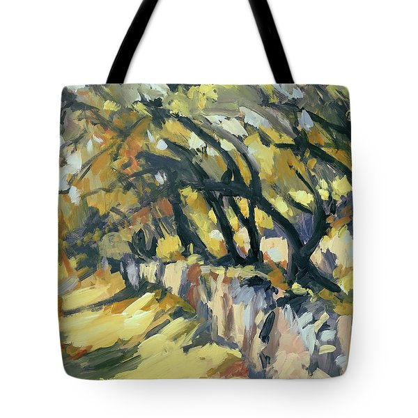 Stone Wall Olive Grove Terrace Tote Bag