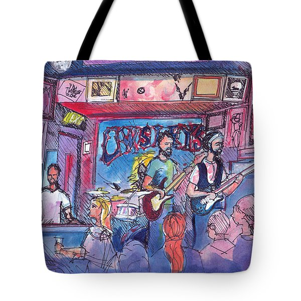 Stonebraker At Quixotes True Blue Tote Bag