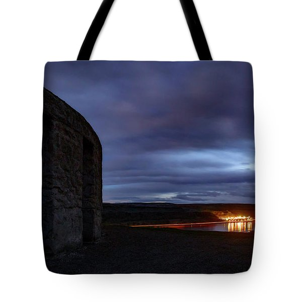 Tote Bag featuring the photograph Stonehenge And The Columbia by Cat Connor