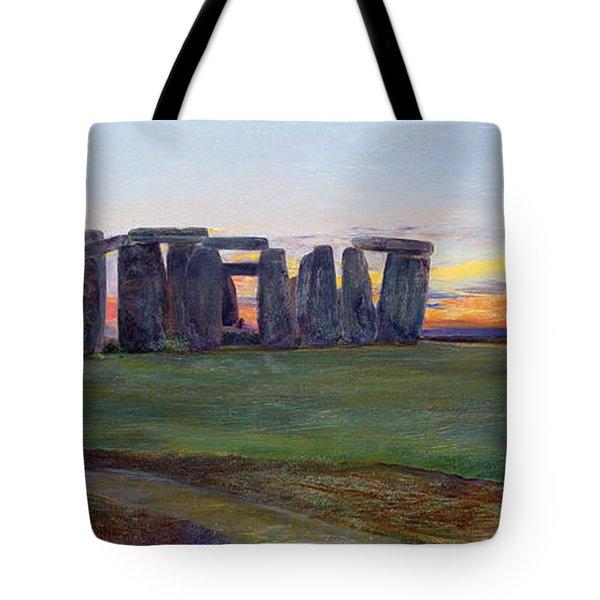 Stonehenge Tote Bag by John William Inchbold
