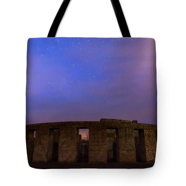 Tote Bag featuring the photograph Stonehenge Sunrise by Cat Connor