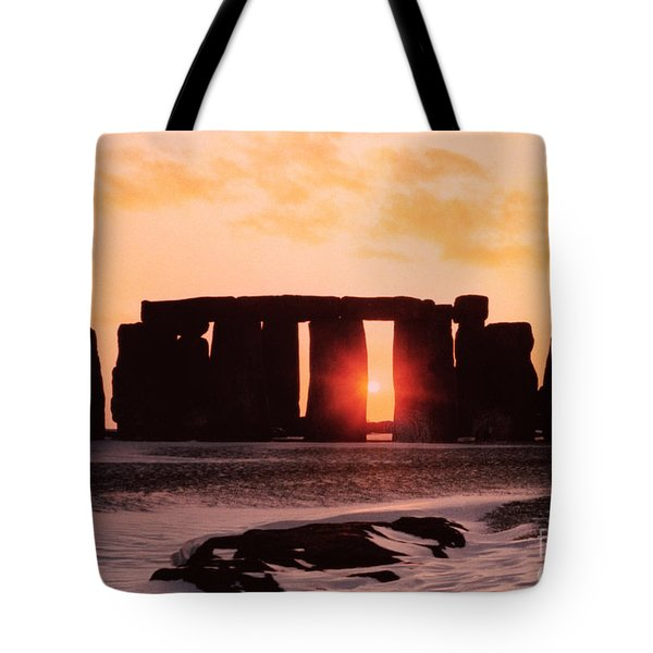 Stonehenge Winter Solstice Tote Bag by English School