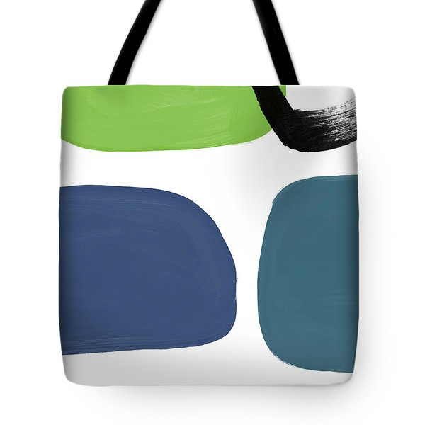 Tote Bag featuring the mixed media Stones 7- Modern Art By Linda Woods by Linda Woods