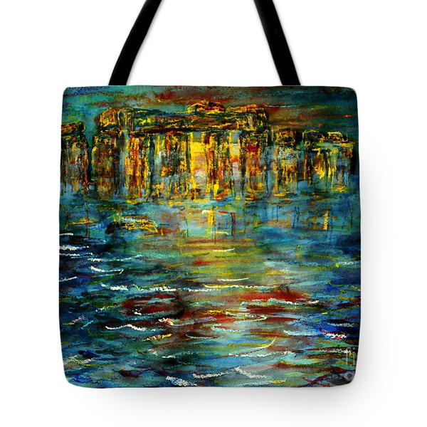 Stonehenge Arising Tote Bag