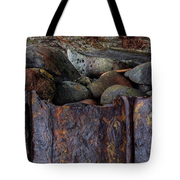 Tote Bag featuring the photograph Rusted Stones 1 by Steve Siri