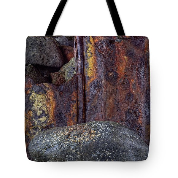 Tote Bag featuring the photograph Rusted Stones 2 by Steve Siri