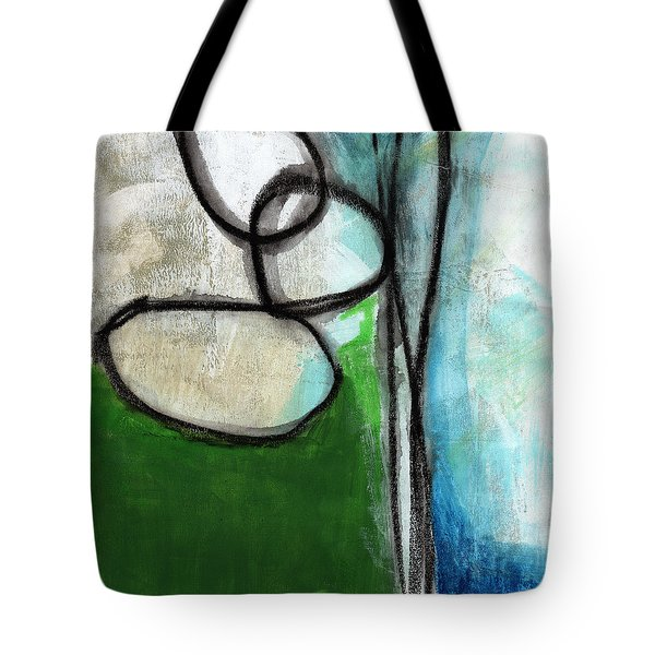 Stones- Green And Blue Abstract Tote Bag