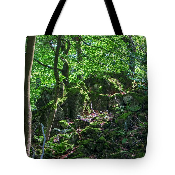 Stones In A Forest In Vogelsberg Tote Bag