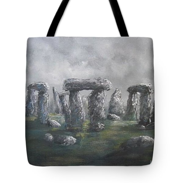 Tote Bag featuring the painting Stones Of Time  by Megan Walsh