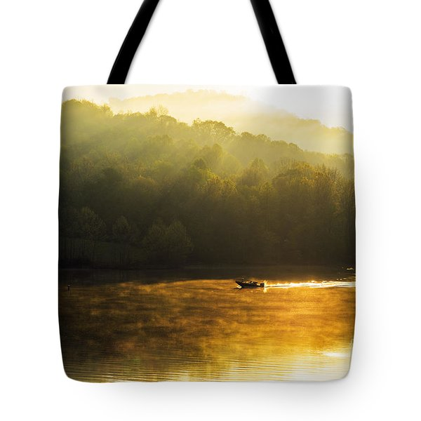 Stonewall Jackson Lake Sunrise Tote Bag by Thomas R Fletcher