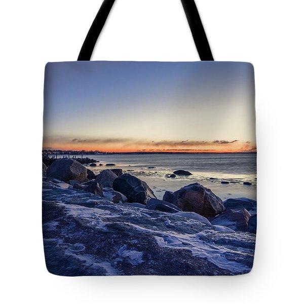 Stonington Point Blue Hour Tote Bag