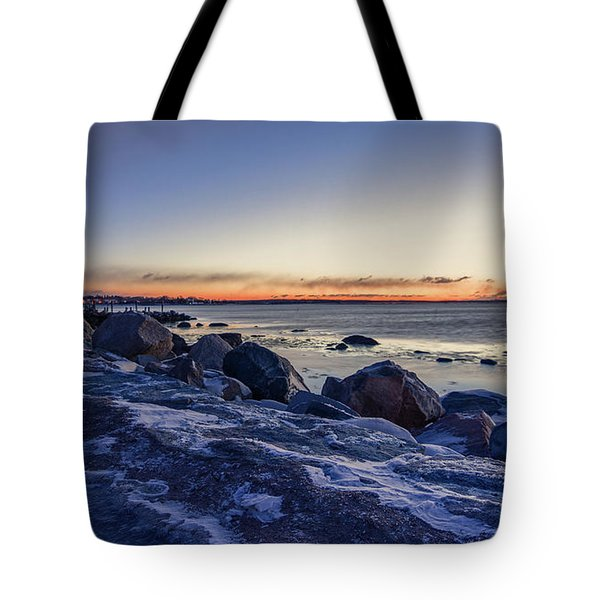 Stonington Point Blue Hour Tote Bag