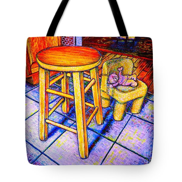 Stool Tote Bag by Viktor Lazarev