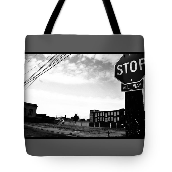 Tote Bag featuring the photograph Stop All Way by Christopher Woods