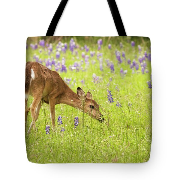 Stop And Smell The Bluebonnets. Tote Bag