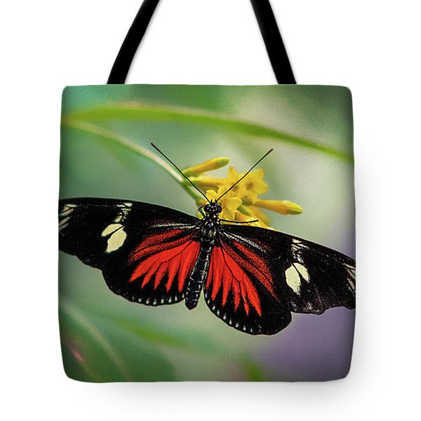 Butterfly, Stop And Smell The Flowers Tote Bag
