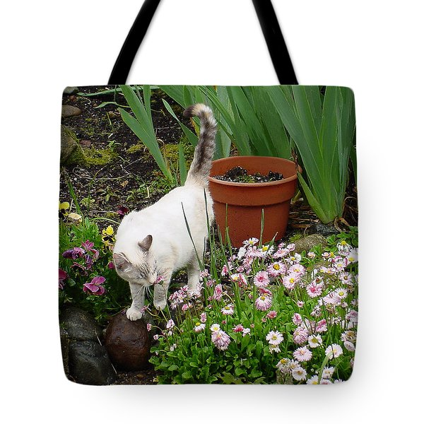 Stop To Smell Flowers Tote Bag