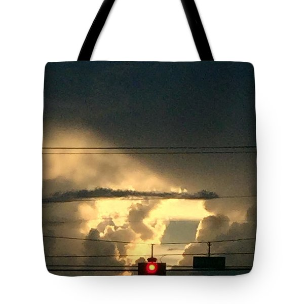 Stoplight In The Sky Tote Bag by Audrey Robillard