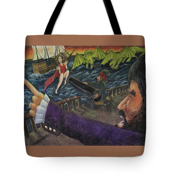 Stopping The Pirate Tote Bag