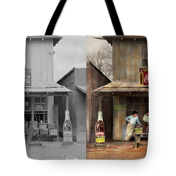 Store - Grocery - Mexicanita Cafe 1939 - Side By Side Tote Bag by Mike Savad