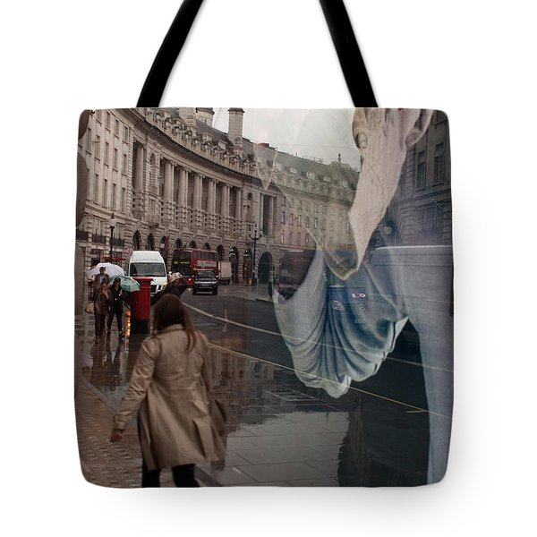 Store Window Reflection Tote Bag