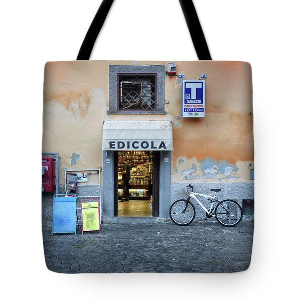 Storefront In Rome Tote Bag