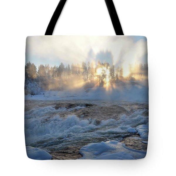 Storforsen, Biggest Waterfall In Sweden Tote Bag