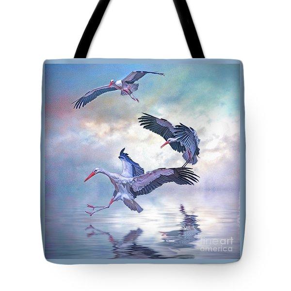 Storks Landing Tote Bag by Brian Tarr