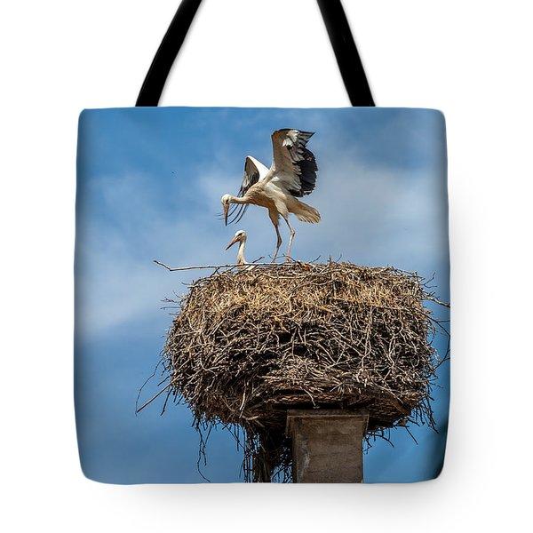 Storks Nesting In Munster Tote Bag