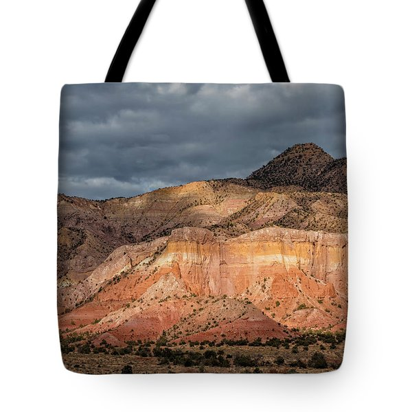 Storm Above Ghost Ranch Mountains Tote Bag