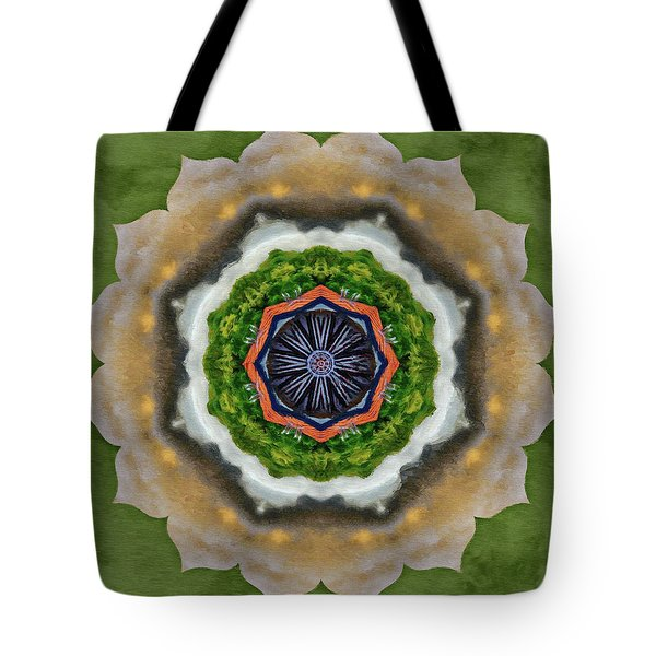 Tote Bag featuring the painting Storm Above by Jeff Kolker