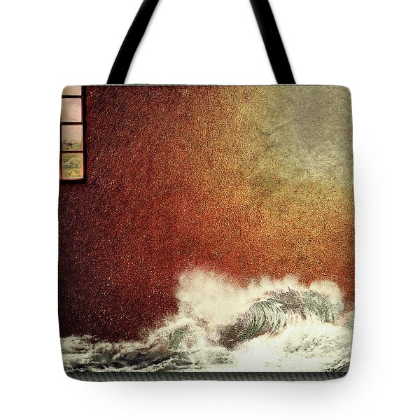 Storm Against The Walls Tote Bag