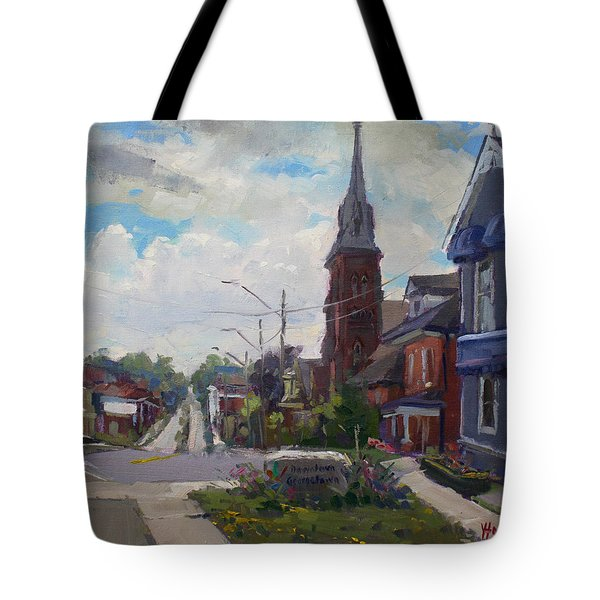 Storm Approach Over Downtown Georgetown Tote Bag