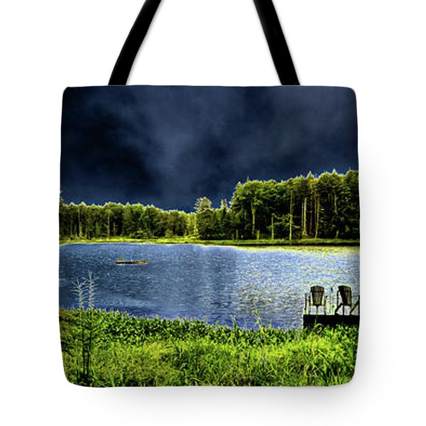 Tote Bag featuring the photograph Storm Approaching The Pond by David Patterson