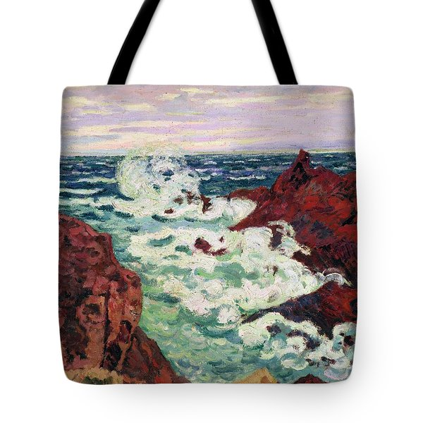 Storm At Agay Tote Bag by Jean Baptiste Armand Guillaumin