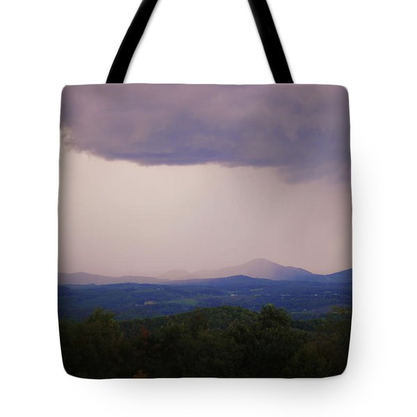 Storm At Lewis Fork Overlook Tote Bag