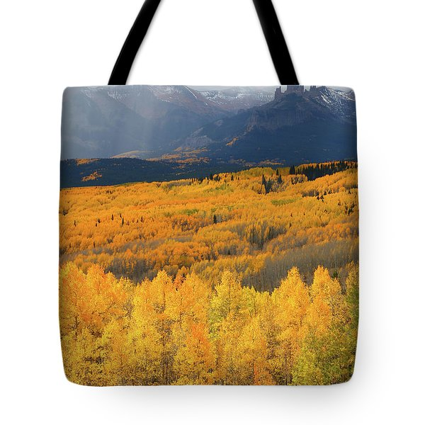 Storm At Ohio Pass During Autumn Tote Bag by Jetson Nguyen