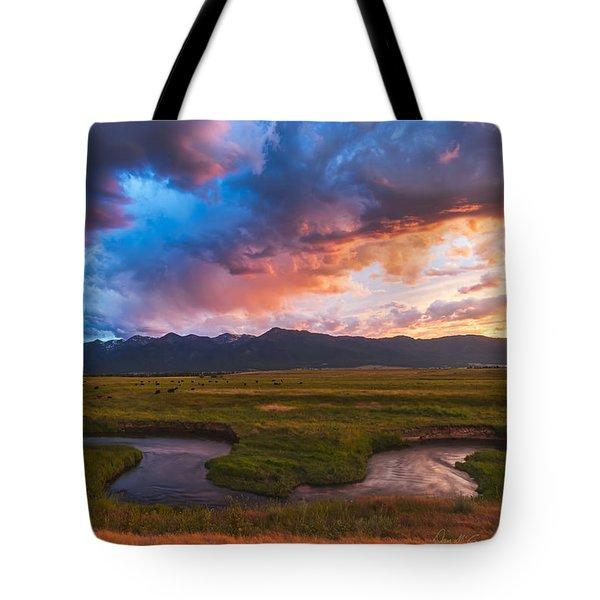 Storm At Prairie Creek Tote Bag