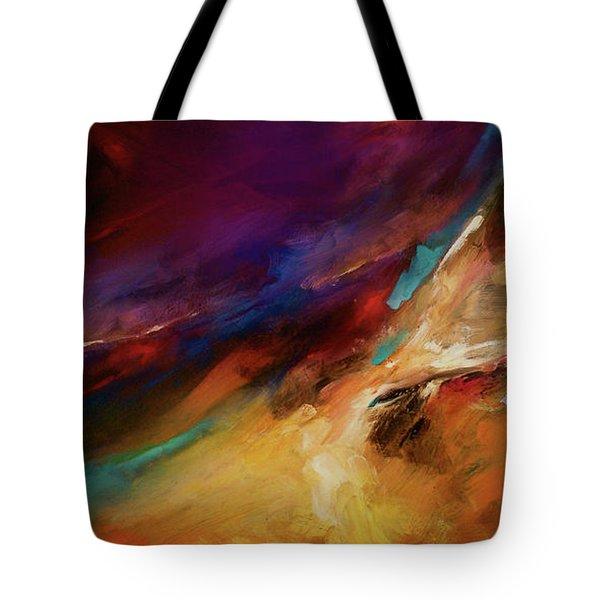Storm At Sea Tote Bag by Michael Lang