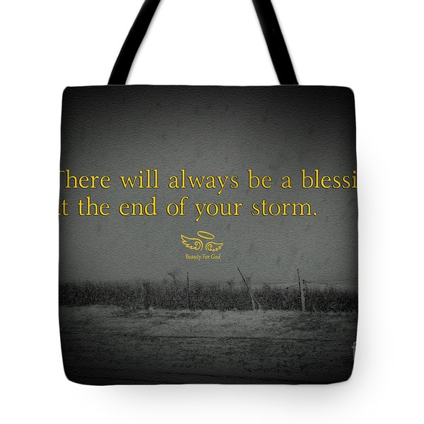 Tote Bag featuring the photograph Storm Blessings by Beauty For God