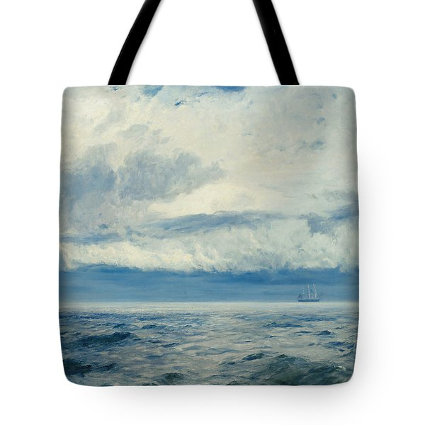 Storm Brewing Tote Bag by Henry Moore